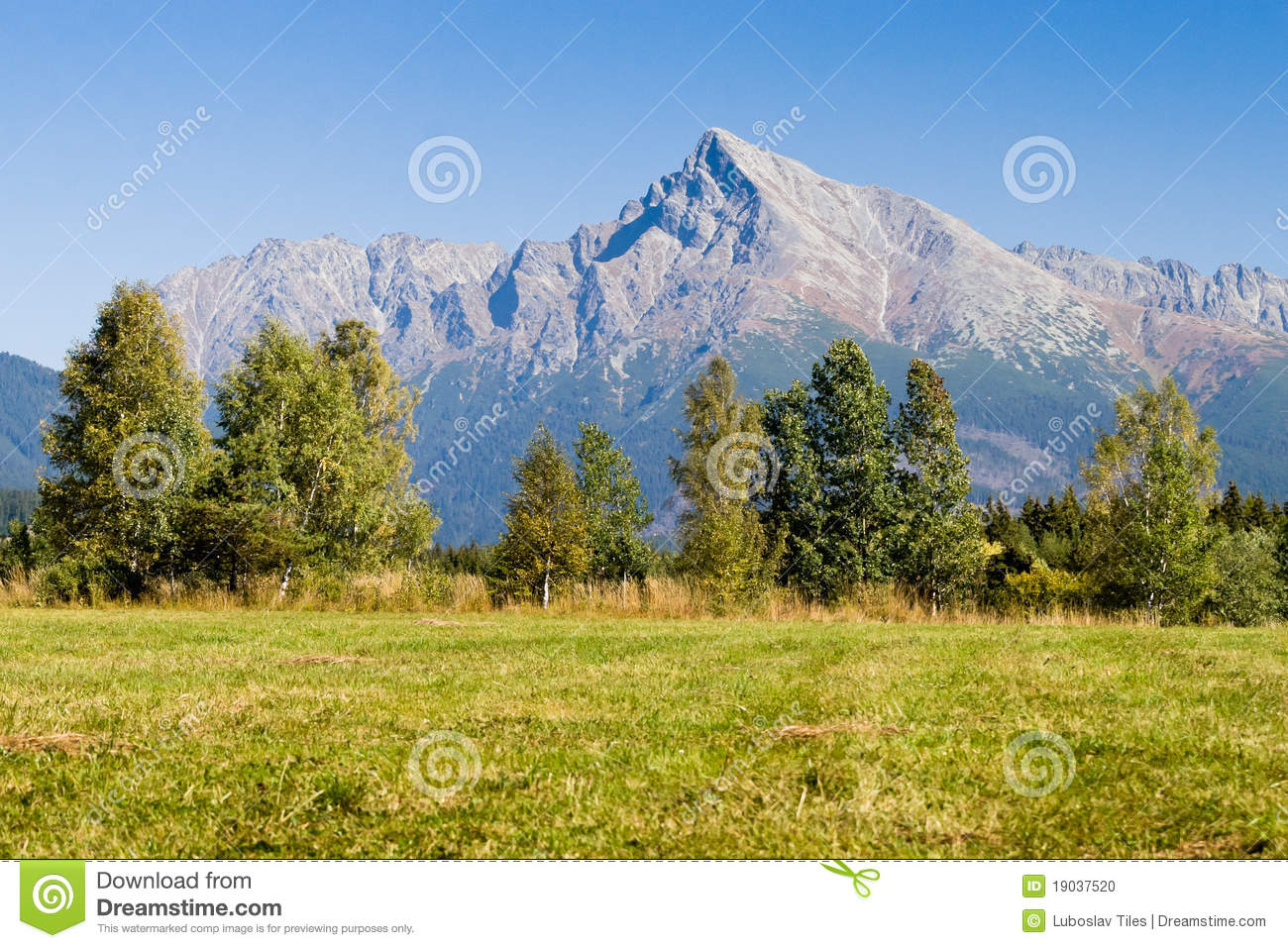 View On Mountains Of High Tatras And Peak Krivan Stock Photo.