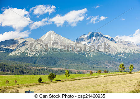Stock Photos of Krivan Mountain and Western part of High Tatras.