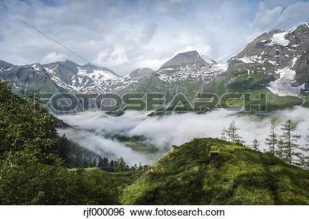 Stock Images of Austria, Salzburg, Austrian Alps, High Tauern.
