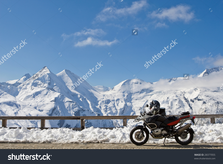 Motorbike Grossglockner High Alpine Road National Stock Photo.