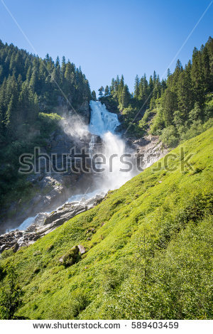 Krimml Waterfalls High Tauern National Park Stock Photo 461385601.