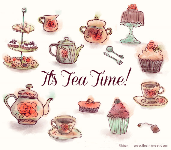 Afternoon tea party clipart 7 » Clipart Station.