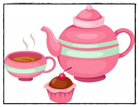 Afternoon Tea Party Clipart.