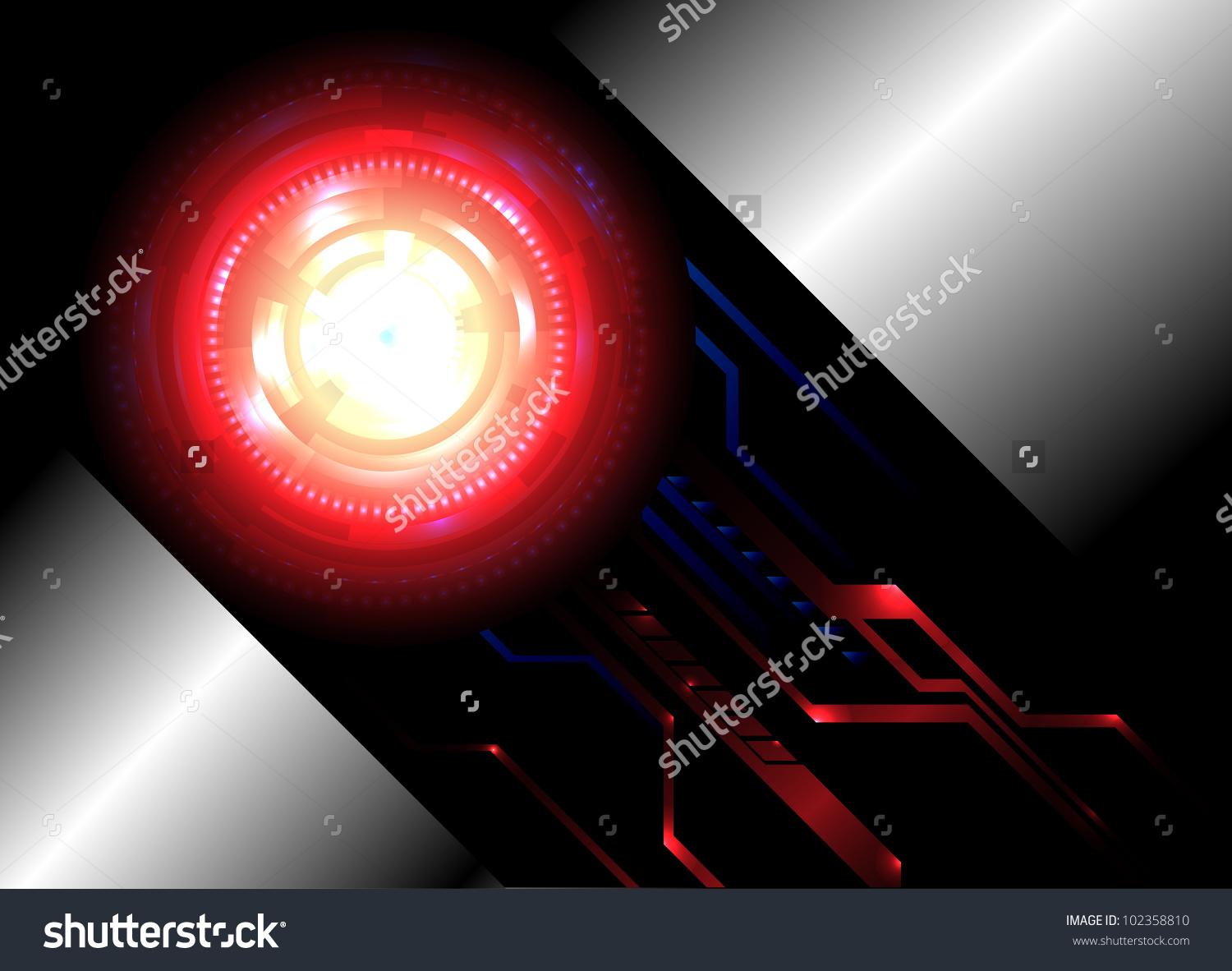 Abstract Background For Futuristic High Tech Design. Clip.