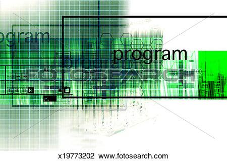 Clip Art of High tech abstract x19773202.