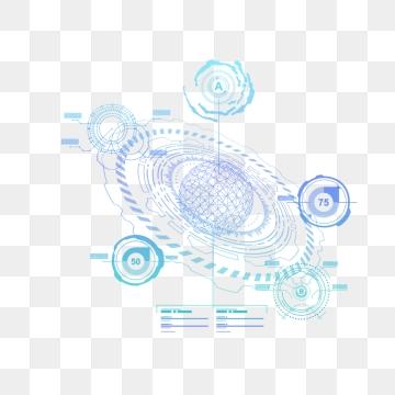 Business Effect Decoration High Tech Cool, Geometric, Technological.