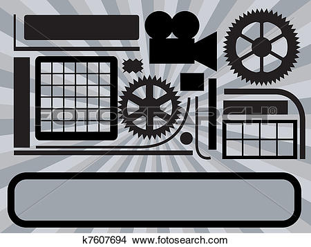 Clipart of Abstract technic background k7607694.