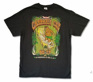 Details about U.S. Cannabis Cup Bear Orange Logo April 2017 Black T Shirt  Official High Times.