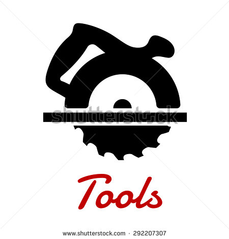 Miter Saw Black Icon With Circular Saw Blade And Handle On The Top.