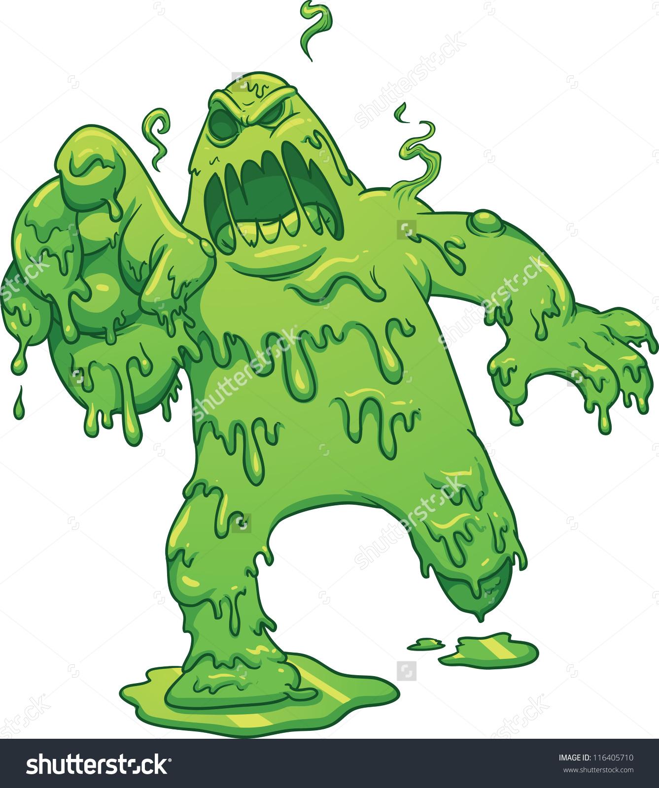 Cartoon Toxic Monster Vector Clip Art Stock Vector 116405710.