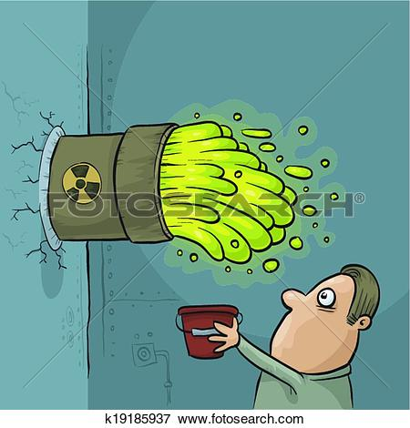 Clip Art of Toxic Waste Accident k19185937.