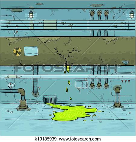 Clip Art of Toxic Leak k19185939.
