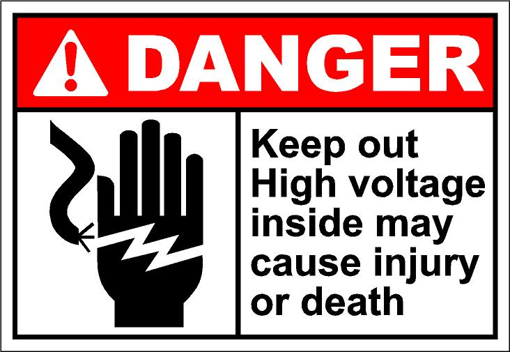 Danger high voltage clipart.