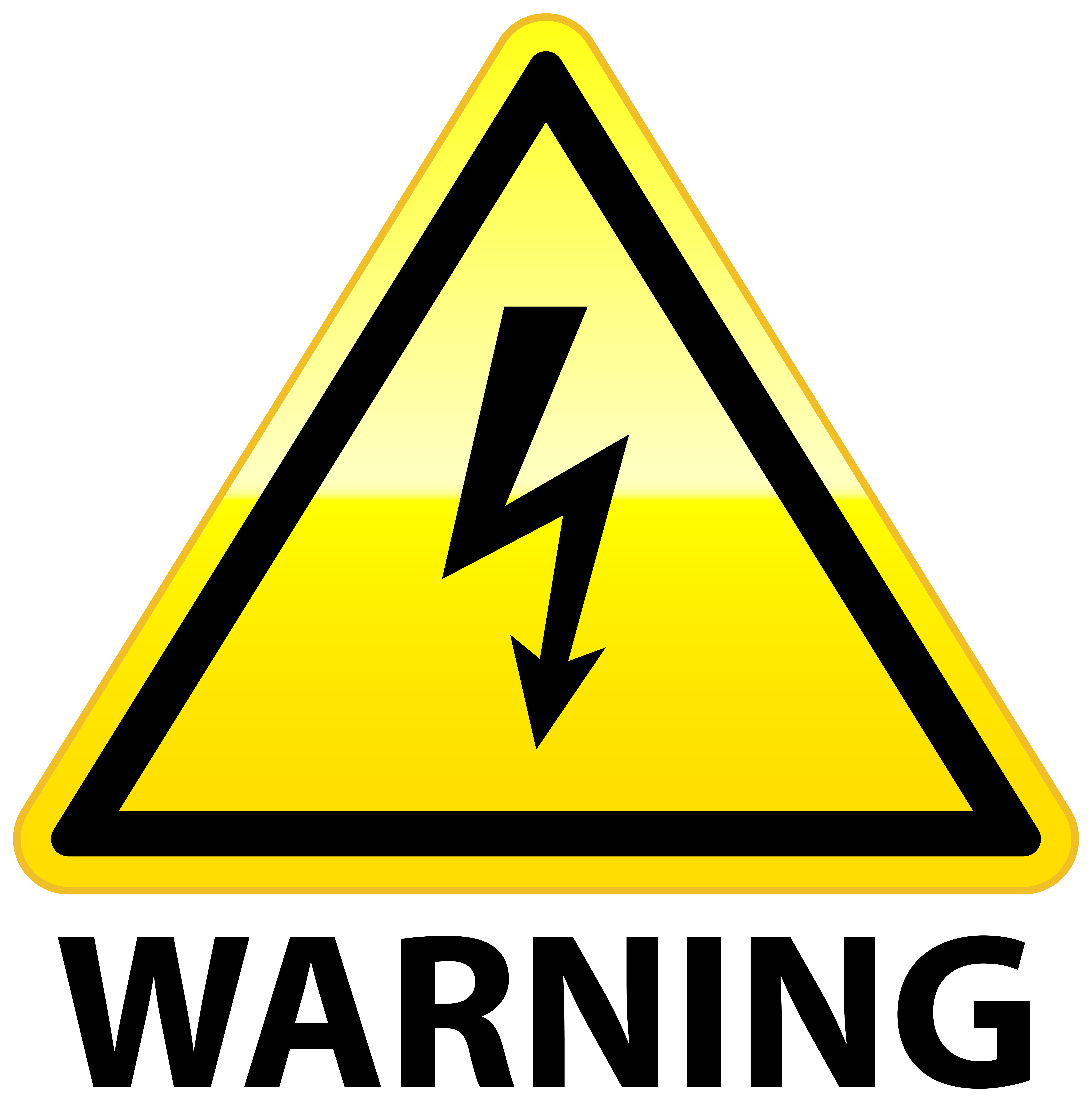 High Voltage Warning PNG Clip Art.