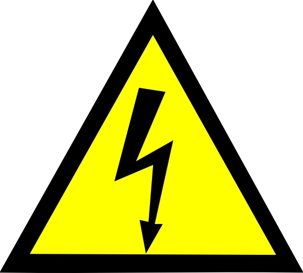 High Voltage clip art Free vector in Open office drawing svg.
