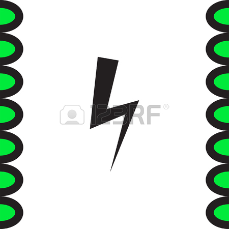Bolt Vector Icon. Lightning Symbol. Electric Energy Sign. High.