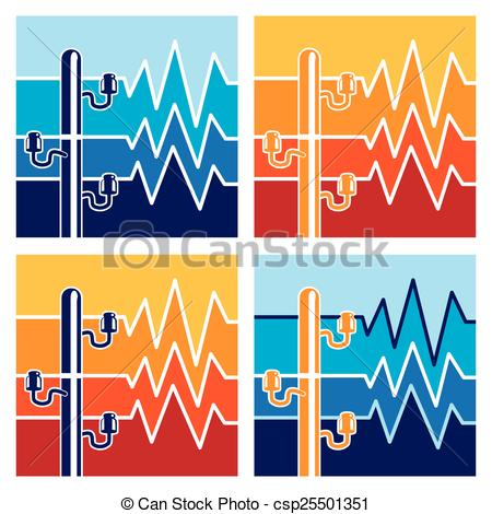 Clipart Vector of symbols of high voltage.