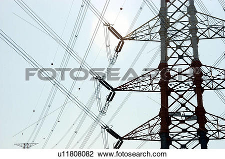 Stock Photo of power, energy, industry, high voltage, electricity.