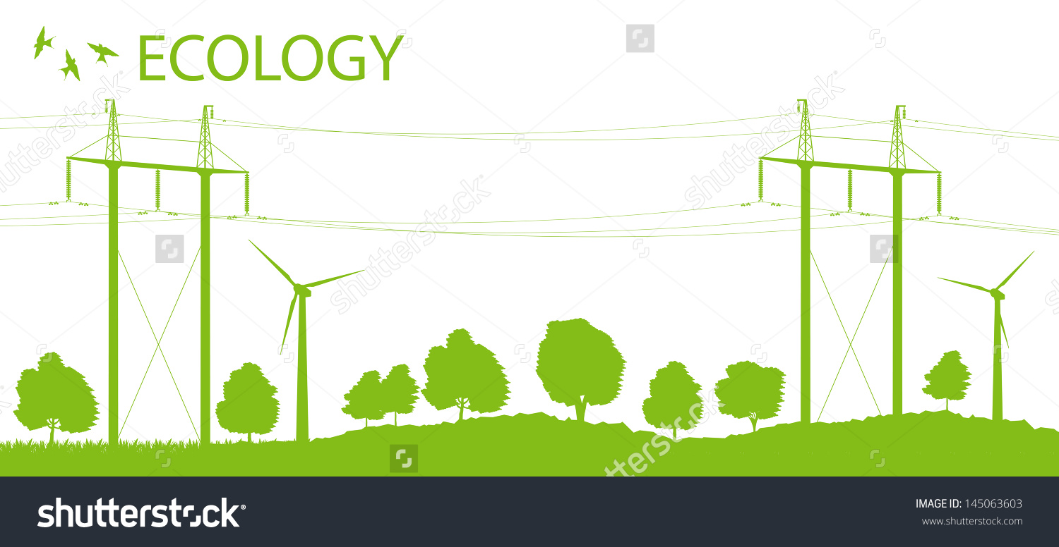 Wind Alternative Energy Generator Vector Background With High.