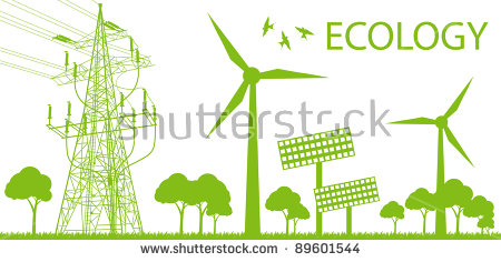 Vector Images, Illustrations and Cliparts: Wind alternative energy.