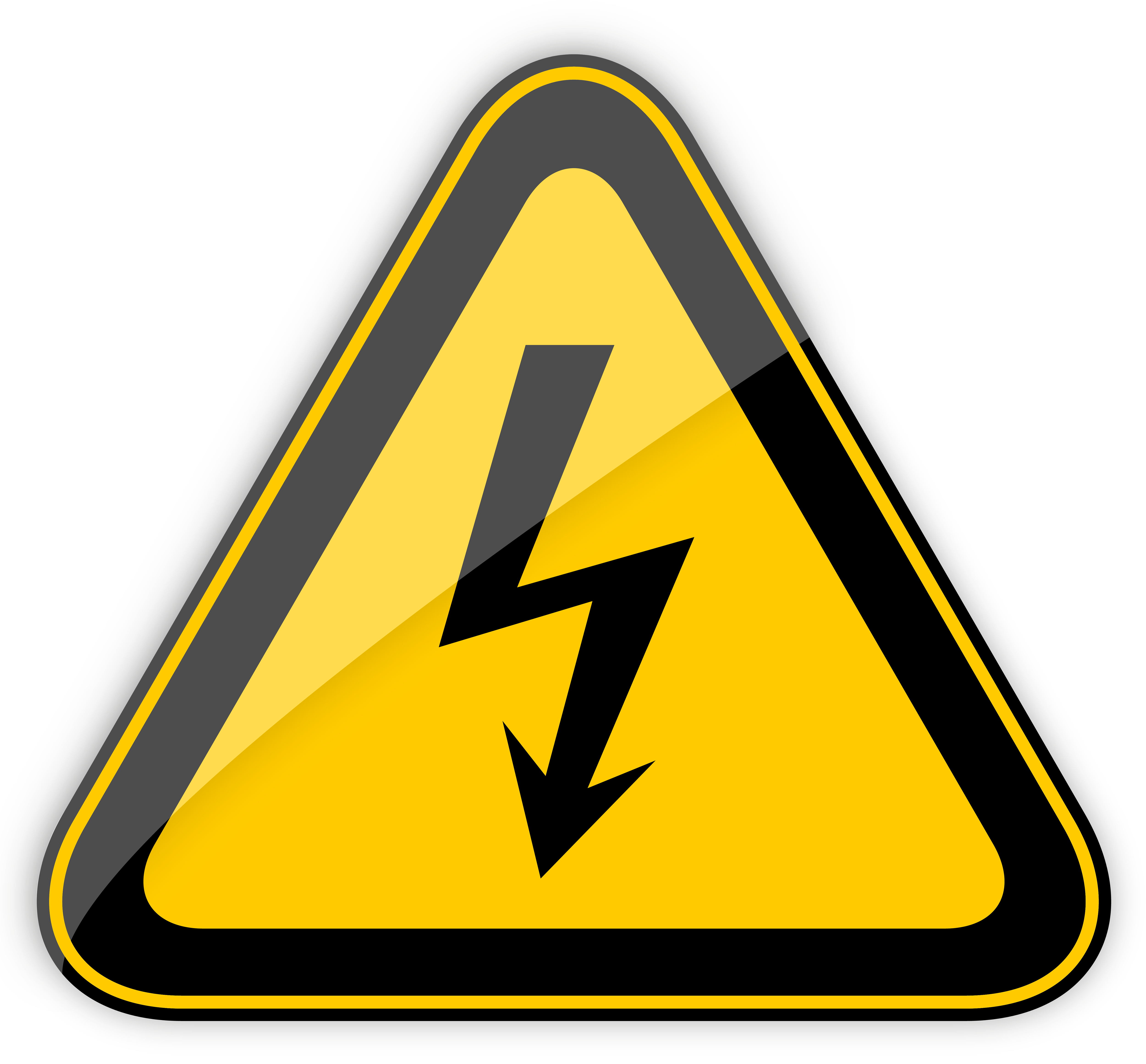 High Voltage Warning Sign PNG Clipart.