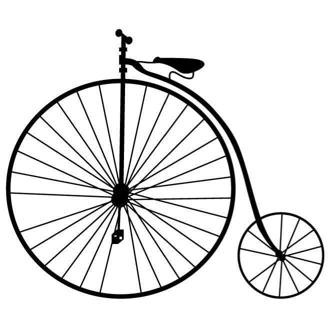 HIGH WHEEL BICYCLE VECTOR.