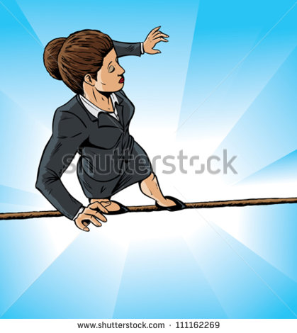 Girl high wire clipart.