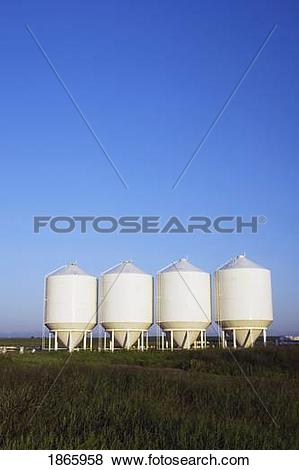 Pictures of grain silo, south of high river, alberta 1865958.