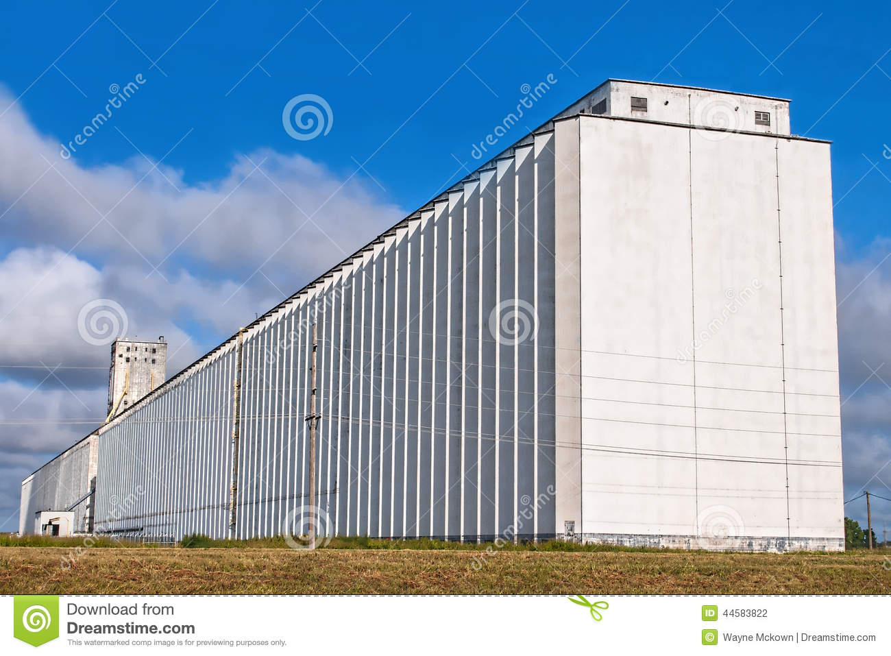 Old Grain Elevator Stock Photo.