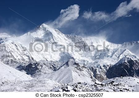 Picture of Cho Oyu, the 6th highest mountain in the world.
