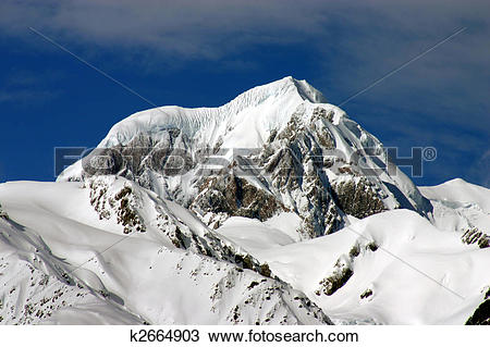 Stock Photo of Mount Cook.