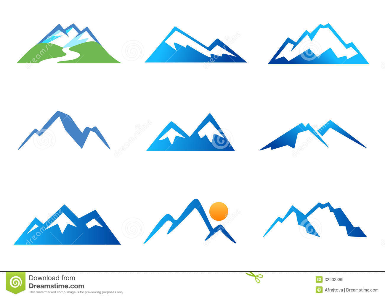 Mountains Stock Illustrations.