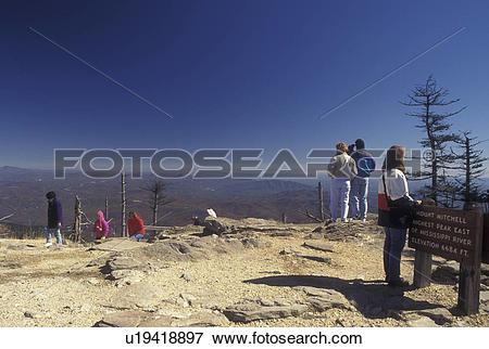 Picture of NC, North Carolina, Mt. Mitchell (6684 feet), highest.