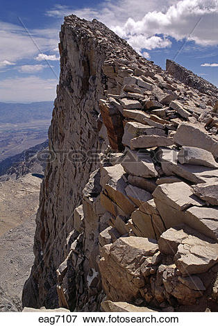 Picture of The summit of MT WHITNEY (14,496 FEET), THE HIGHEST.