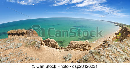 Stock Photos of highest point of seacoast.