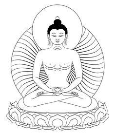 Avalokiteshvara Thangka Drawing.