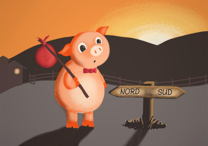 Die Drei Kleinen Schweinchen: The Three Little Pigs + audio.