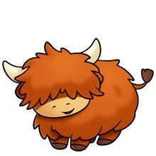 Scottish highland cow clipart #11