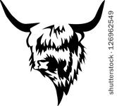 Scottish highland cow clipart #2