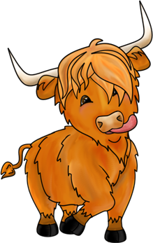 Highland cow clipart » Clipart Station.