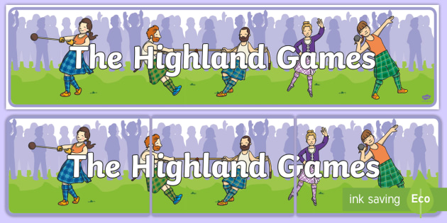 highland games clipart #3