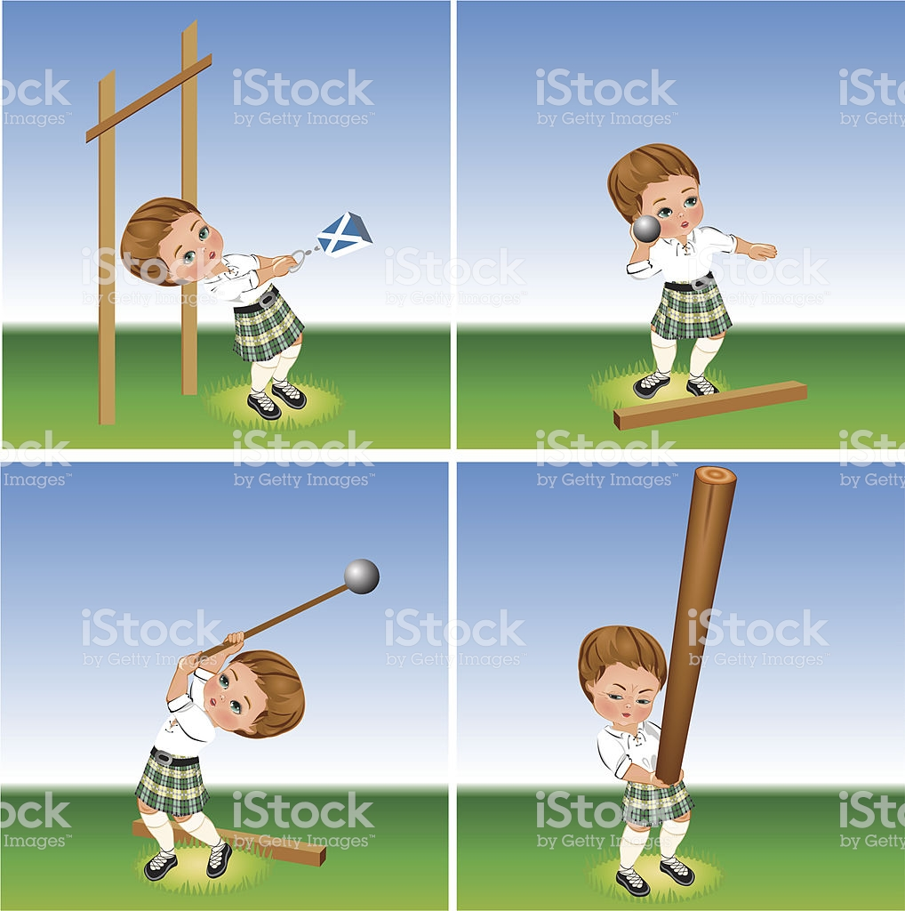 highland games clipart #4