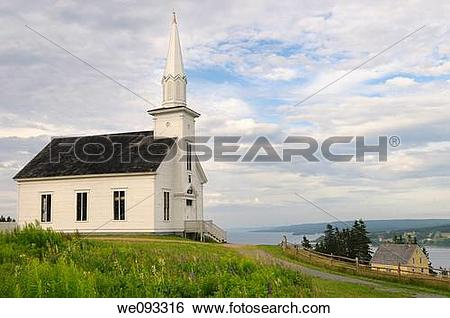 Stock Images of Historic church at Highland Village Museum Iona.