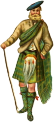 Antique Clipart: Highlander..