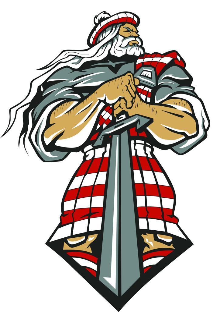 Highlander Mascot Clipart.