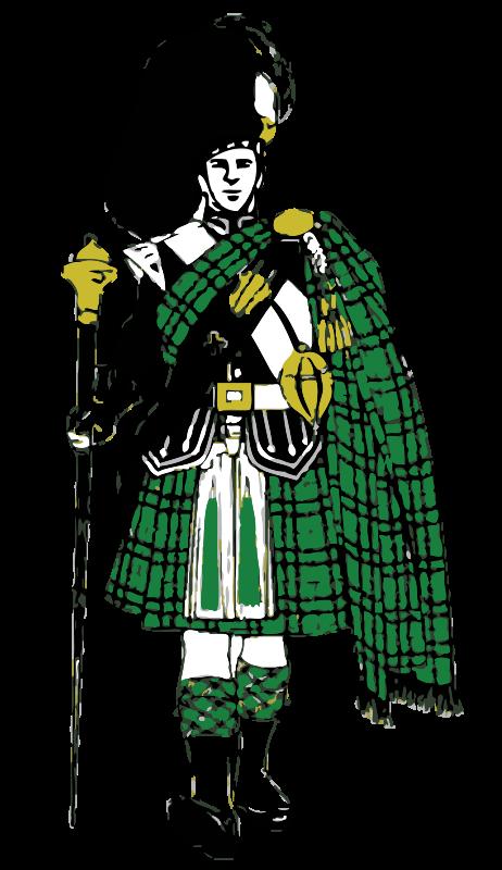 Free Clipart: Scottish Highlander.