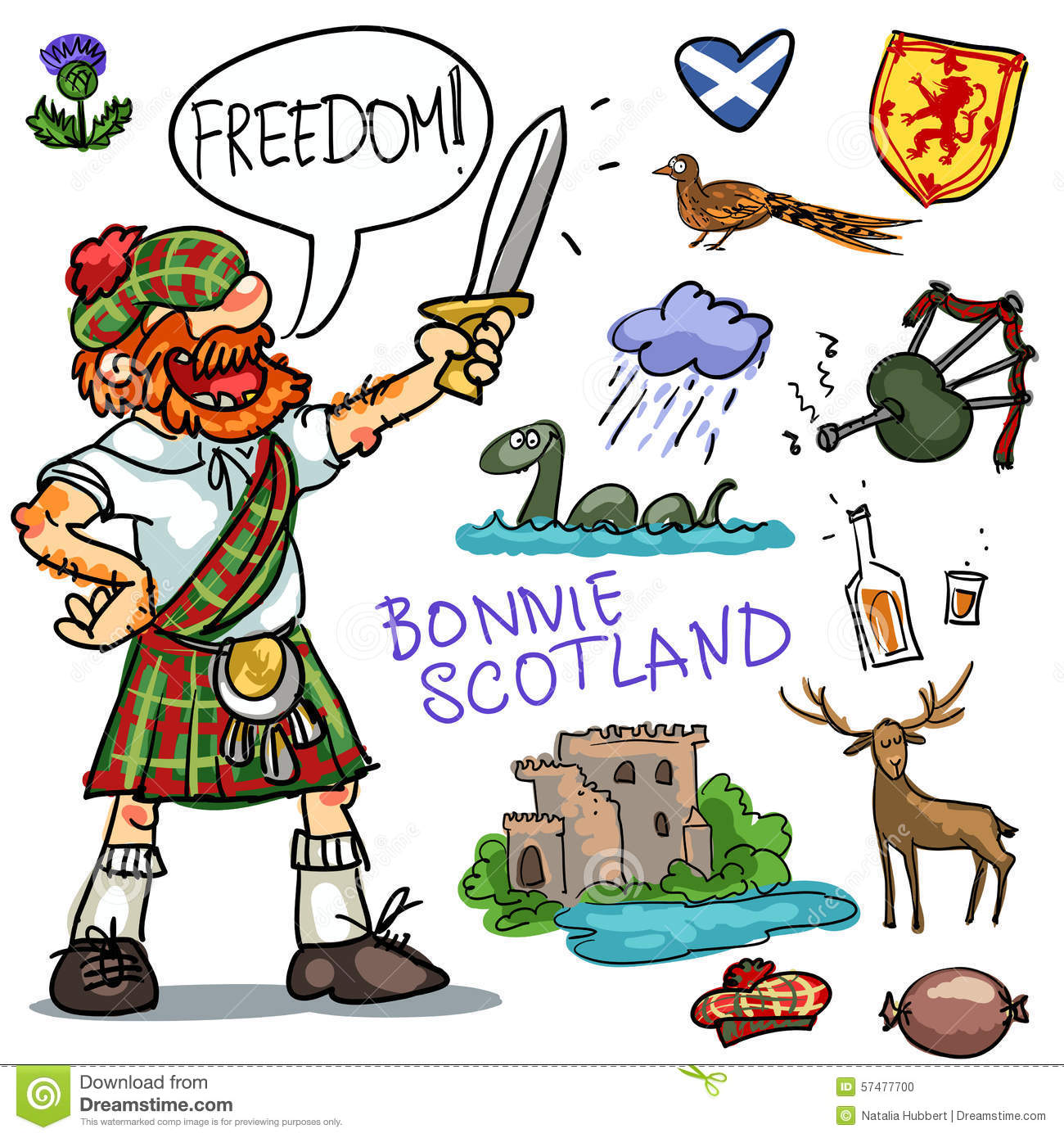 Clip Art Highlands of Scotland.
