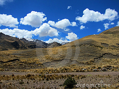 Highlands In Andes Mountains, Peru Stock Photos.
