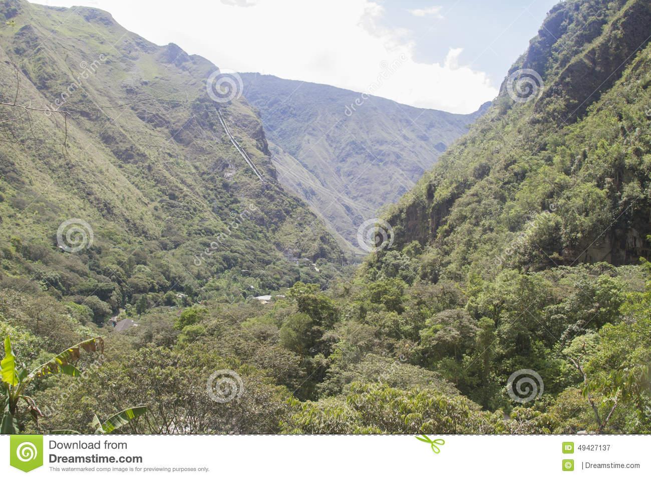 Peruvian Highlands Stock Photo.