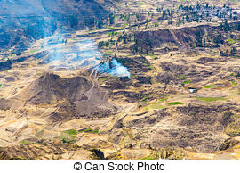 Stock Photo of Mining outpost in the highlands close to colca.